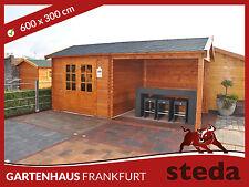 Blockhaus, Gerätehaus 300x300 cm + 300 cm Anbau! Gartenhaus, Holzlager! STEDA