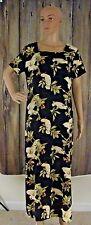 Rum Runner Silk Dress Casual Comfort Medium Bird Floral Print