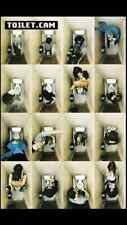 """Funny Toilet Booth Pictures Poster  Maxi size 24""""x36"""""""