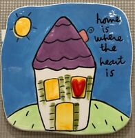 """Sandra Magsamen for Silvestri """"Home is where the Heart is"""" Wall Tile Plaque"""