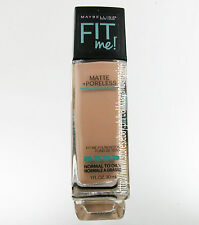 MAYBELLINE FIT ME! MATTE+PORELESS LIQUID FOUNDATION MAKEUP #220 NATURAL BEIGE