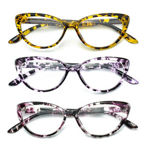 Cat Eye Tortoise Reading Glasses Readers Fashion Womens Ladies +1.0 ~ 4.0 D508