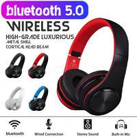 Wireless Bluetooth 5.0 Faltbare Kopfhörer HiFi Stereo Headset Mp3 SD / TF Karte