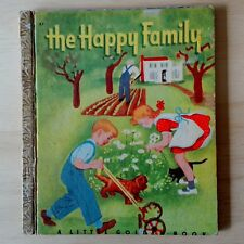 Rare Vintage - A Little Golden Book -  The Happy Family - Inscribed 1950