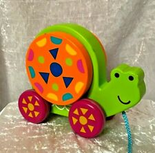 WOODEN PULL TOY TURTLE for TODDLER