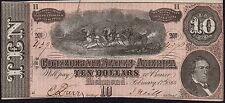 1864 CONFEDERATE STATES AMERICA $10 BANKNOTE * RICHMOND * gVF * P-68 *