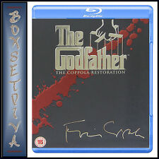THE GODFATHER TRILOGY - MOVIES 1 2 3 COPPOLA RESTORATION  ***NEW BLU RAY ***