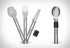 Esbit Titanium Cutlery Set, 3 Piece TC4-TI, Camping Fork Spoon