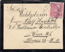 Österreich, Trauerbrief mit netter Adresse nach Wien, 1908