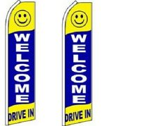 Welcome Drive  King Size  Swooper Flag  sign Pack of 2  (HARDWARE NO INCLUDED)
