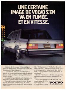 1986 VOLVO 760 Turbo Vintage Original Print AD - Silver car photo French Canada