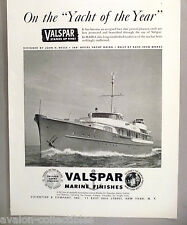 Valspar Marine Boat Paint & Finish PRINT AD - 1948 ~~ yacht Haida, John H. Wells