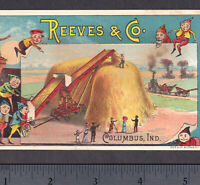 Case / Reeves Steam Tractor Hay Stacker 1800's Columbus IN Brownies Fantasy Card