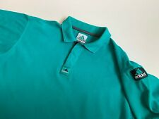 Mens 90s Adidas Equipment Vintage Polo T-shirt Size M Green