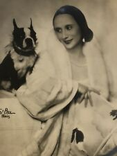 Original 1910s ANNA PAVLOVA w/ Boston Terrier Ballet Photograph by S'ORA