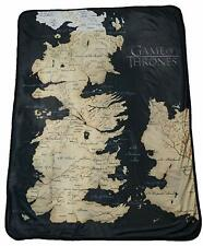 "Rabbit Tanaka Game of Thrones 46"" X 60"" Map of Westeros Fleece Throw Blanket"