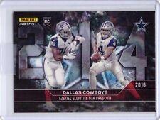 """2016 Panini Instant #615 Cowboys Dak Prescott Ezekiel Elliott Rookie Card """"214"""""""