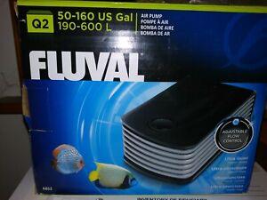 Fluval Q2 Adjustable Air Pump for 50-160 Gallon Aquariums