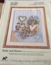 Something Special Teddy and Flowers Counted Cross Stitch Kit - NEW