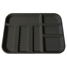 Plasdent Dental Instrument Divided Setup Trays Size B Black 2/Pack FDA