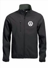 Calidad de Abrigo Chaqueta Softshell VW Volkswagen Negro Bordado