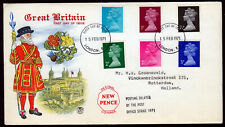 GB 1971 QEII. ☀ Great Britain First Day of issue New Pence ☀ FDC cover London