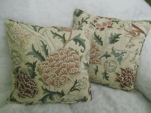 """CRAY  BY WILLIAM MORRIS1 PAIR OF 18"""" CUSHION COVER 100% COTTON ICONIC DESIGN."""