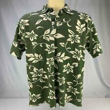 MEDIUM CRAZY SHIRTS HAWAII MEN POLO Green Hawaii Design Vintage Color Pops