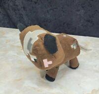 "Minecraft 2014 Mojang Brown Cow Plush Stuffed Animal Soft Toy 6"""