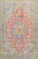 Vintage Floral Traditional Tebriz Area Rug Hand-knotted Oriental Carpet 8'x11'