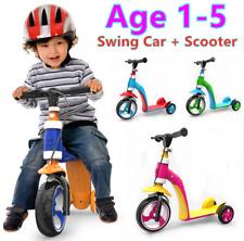 2-1 KIDS TODDLER SCOOTER PUSH KICK 3 WHEEL SWINGS BALANCE RIDE ON TOY CHILD GIFT