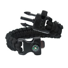 Outdoor Paracord Parachute Cord Bracelet Rope Military Survival Whistle Buckle