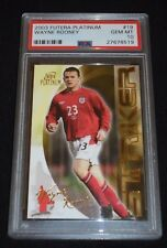 2003 Futera Platinum Wayne Rooney Rookie Card RC PSA 10 Gem Mint POP 1