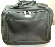 "Protege Black 17"" Rolling Laptop Carry-On Briefcase/Luggage/Bag"