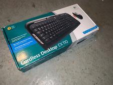 Logitech Cordless Desktop EX 110 Wireless Keyboard and Mouse Combo - Open Box