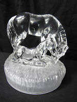 1 Royal Crystal Rock Glass Animal Horse & Foul Sculpture Ornament Paperweight