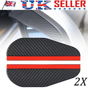 2x Carbon Fiber Black Rear View Mirror Rain Visor Guard For Auto Car Accessories