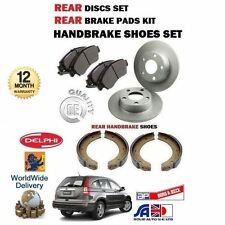 FOR HONDA CRV 2.0 2.2 DTEC 2006-2012 REAR BRAKE DISCS SET + PADS + HAND SHOES