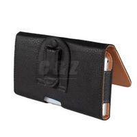 Black Leather Case Cover Belt Clip Pouch For Microsoft Nokia Mobile Phones a