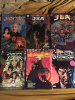 DC TPB Lot 6 Books Deadman, Star Trek JLA JSA Justice Leage Dark Comics