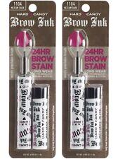 Hard Candy Brow Ink #1104 MEDIUM DARK 24 hour Brow Stain Longwear BNIB (2 Pack)