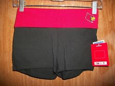 NWT COLOSSEUM ATH.WOMENS LOUISVILLE CARDINALS FITNESS SEQUIN SHORTS SZ XS