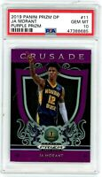 JA MORANT 2019-20 Prizm Draft Crusade PURPLE Rookie Card RC PSA 10 Gem Mint #11