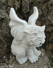New latex concrete  mold with plastic backup wings up gargoyle