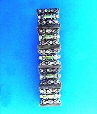Liz Claiborne Crystal Rhinestone Floral Stretch Bracelet