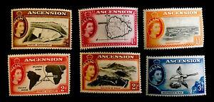 Ascension Island QEII pt MINT set x6 stamps LH