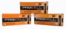 NEW DURACELL PROCELL AA 1.5V ALKALINE BATTERIES 72 (3 BOXES OF 24) EXP 5+ YRS