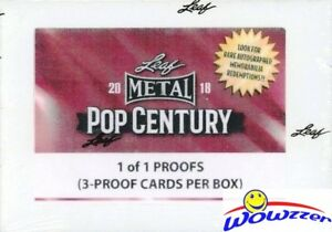 2018 Leaf Metal Pop Century 1/1 PROOF Pre-Production Factory Sealed Box-3 PROOFS