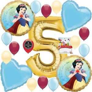 Snow White Party Supplies Balloon Decoration Bouquet Bundle for 5th Birthday
