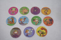 "Lot de 11 jetons ""PADEULS"" KID PADDLE 1996 (Caps/Tazo/Paddles/Comic Shell/pog)"